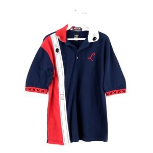 Vintage Streetwear Bowling Stitched Polo Shirt